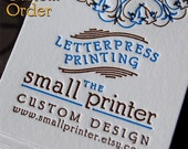 Custom Order - Letterpress printing by Small Printer