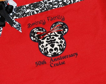 Personalized extra large Disney tote bag Mickey or minnie mouse special anniversary cruise