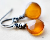 Labor Day Sale Butterscotch Earrings Chalcedony Autumn