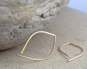 Gold Hammered Arc Earrings - Small (E037GF-S)