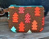 Dog Poopie Pouch Coin Purse - Fire Hydrants