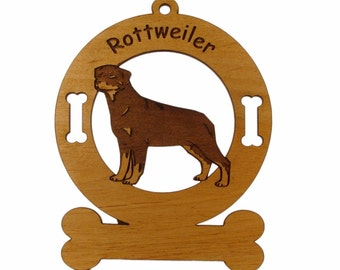 3832 Rottweiler Standing Personalized Dog Ornament