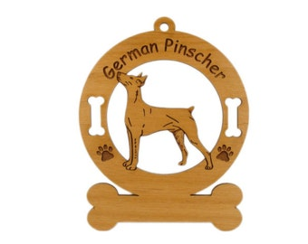 3207 German Pinscher Standing Personalized Dog Ornament