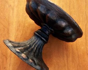 Handmade Paper Mache Decorative Pedestal: Dorian