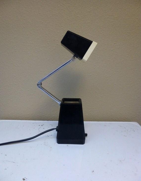 Vintage Gooseneck Desk Task Lamp Black Cream
