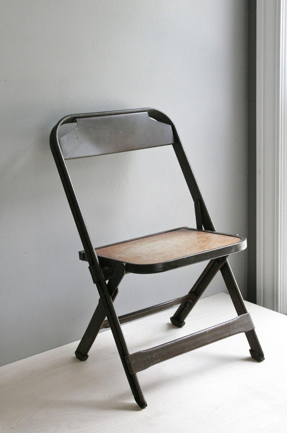 child s industrial folding chair by ohalbatross on Etsy
