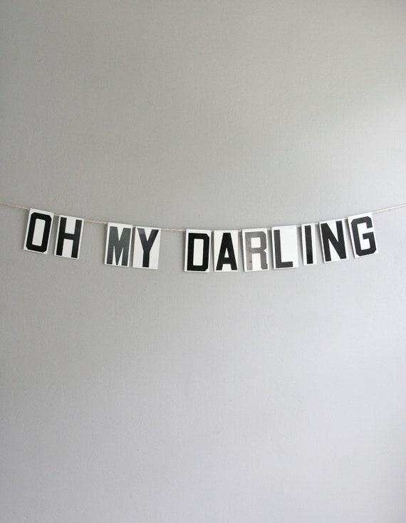 oh my darling / vintage modern bunting