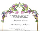 Flower Arch - Wedding Party Marriage Certificate