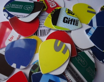 30 Upcycled Jazz Guitar Picks NEW ITEM