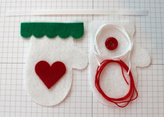 DIY White  Felt Ornament Kit