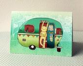 Greeting card - Camping Rabbit