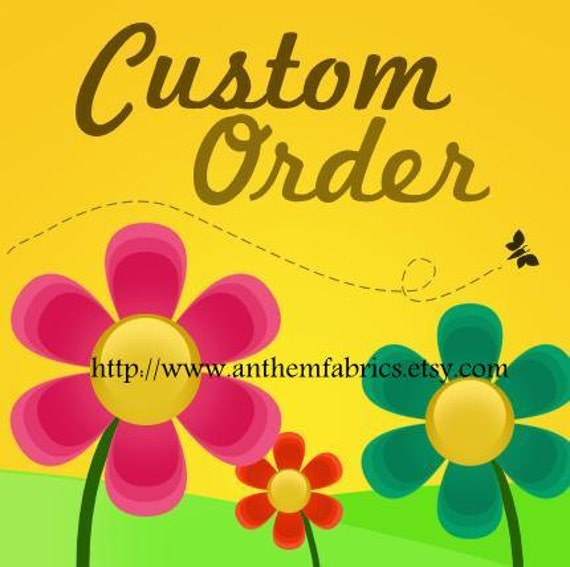 Custom order for kirstiecasey : Fabrics by Amy Butler & Joel Dewberry