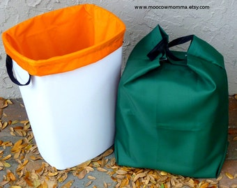 two reusable recycling can liners large kitchen trash can liners reusable garbage bags set