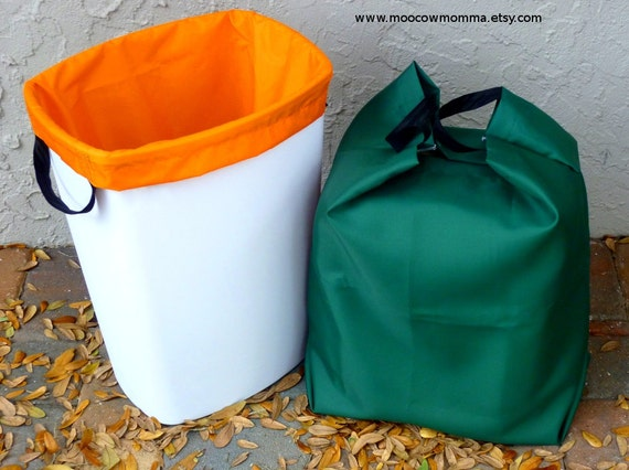 Two Reusable Recycling Can Liners Large Kitchen Trash Can
