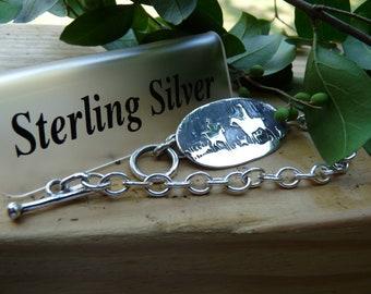 Fox Hunt scene bracelet
