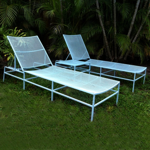 SALE Salterini Patio Lounger Chairs and Table Set Mid Century Modern Eames