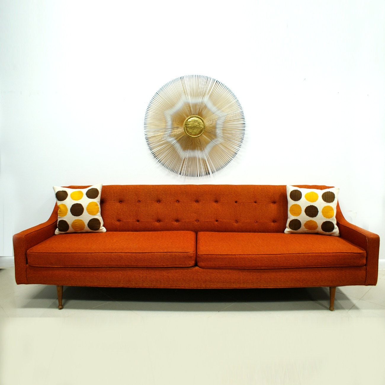 Mid Century Modern Split Level 1956 Edition Better Homes: Orange Sofa Mid Century Modern Free Shipping