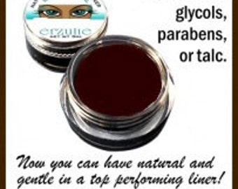 Natural and Organic Mineral Gel Eyeliner in DARK BROWN  Naturagel ™ Gluten Free  Easy to Use