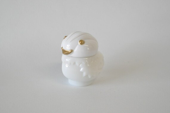 adorable vintage milk glass white bird avon bottle