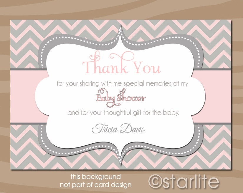 thank you card wording for baby shower