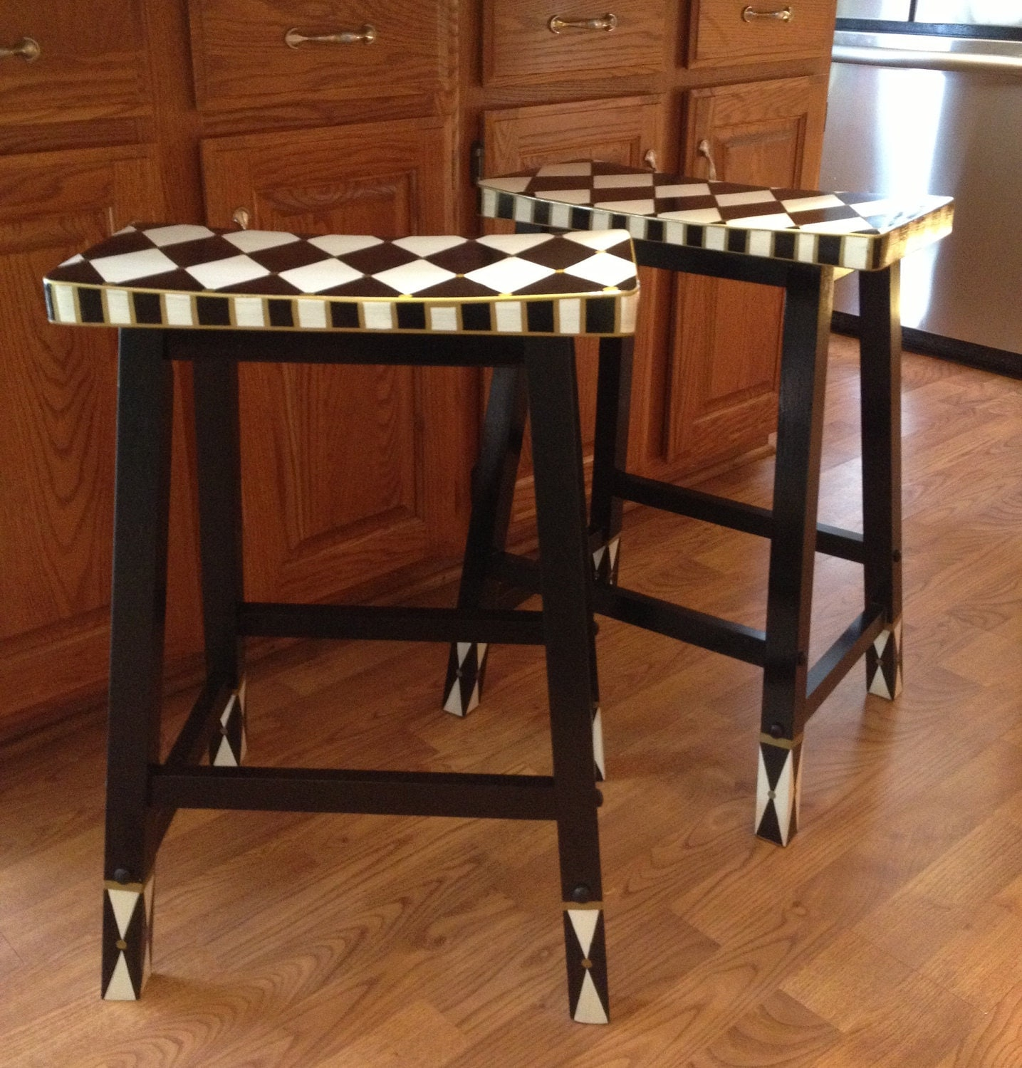 Whimsical Painted Furniture Painted Saddle Bar Stool Painted