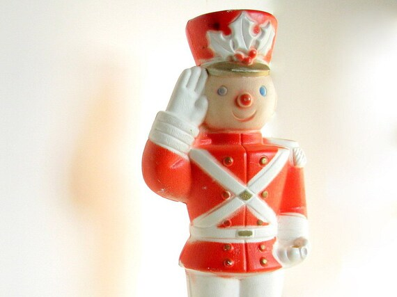 Vintage Light Up Toy Soldier Christmas Holiday Decoration