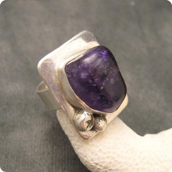 Vintage Sterling Ring Amethyst R4745
