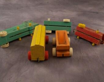 SALE WAS 23 Strombecker 5-piece Wooden Train tws