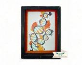 DNA - Black with Orange Velvet Framed Mini Print