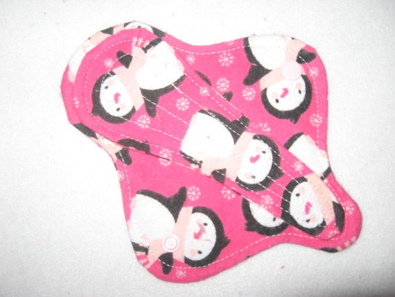 Cloth thong pantyliner with penguins