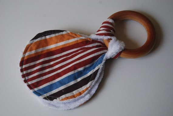 Wooden Teething Ring - Stripes
