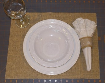 Simple Burlap Placemats - Available in 54 colors