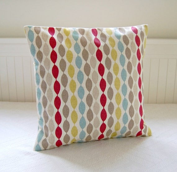 blue pink yellow lime bead decorative pillow cover cushion