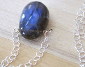 RESERVED Labradorite Necklace Sterling Silver Wire Wrapped