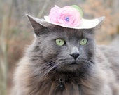 Spring Cat Hat - Cat Hat - Spring Bonnet - Cat Bonnet