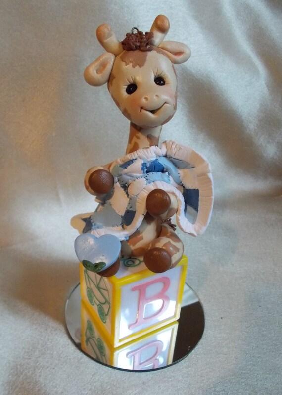 baby shower cake topper giraffe