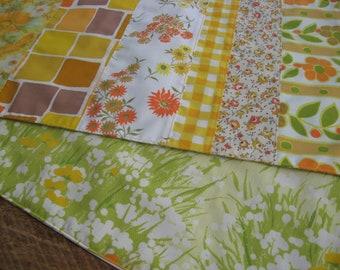 """Table Runner Vintage Yellow Fabrics 54"""" Fall Autumn"""