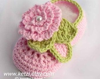 Baby Booties Crochet Pattern flower booties pattern booties crochet baby shoes girls booties baby crochet flower pattern pink pearl