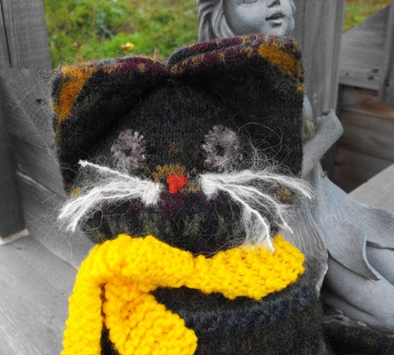 Adopt a Cat  Wool Recycled  Repurposed Barn Cat Kitty