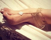 KATY ANKLET- gold chain foot anklet available in gold / Bohemian foot chain/ barefoot sandal / boho / body jewelry / foot chain / boho chic