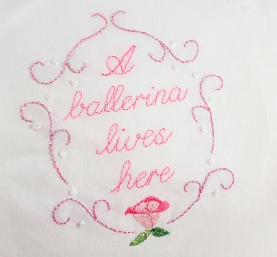 Ballerina embroidery pattern hand embroidery ballet theme