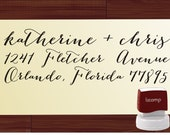 Handwriting Custom  Return Address Stamp - SELF INKING  - personalized wedding or christmas gift - 1281J