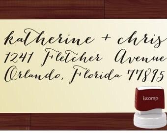 Handwriting Custom  Return Address Stamp - SELF INKING  - personalized wedding or christmas gift - 1281J