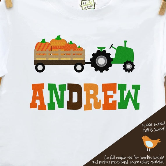 fall tractor kids personalized shirt - Adorable custom and personalized tractor t shirt