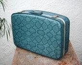 Faux Turquoise Snakeskin Suitcase - Rockabilly