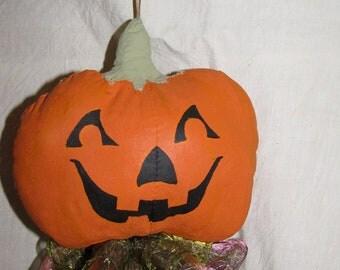 Hanging Pumpkin Head Halloween Ornament