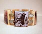 COCKER SPANIEL Bracelet / Upcycled SCRABBLE Jewelry / Dog Lover Gift
