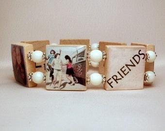 Friendship Jewelry / Gift for FRIEND / BFF / SCRABBLE Bracelet / Handmade