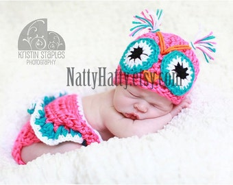 Baby  costume.Newborn  costume owl set,owl costume, hat and diapercover-skirt owl, baby girl owl costume.owl costume hat.
