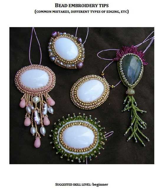 Tutorial tips and tricks in bead embroidery